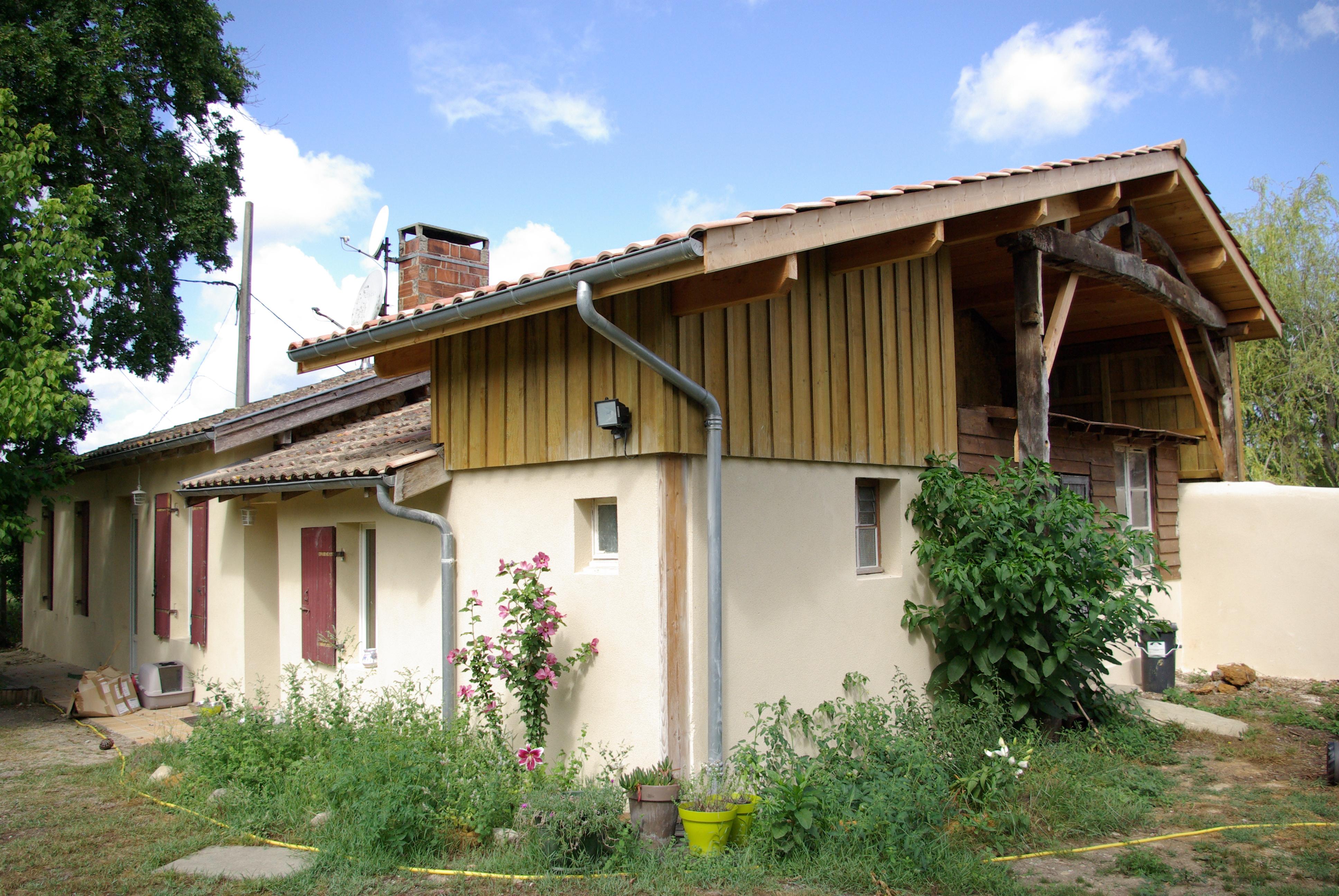 Rénovation d_une grange à Fargues- Saint- Hilaire